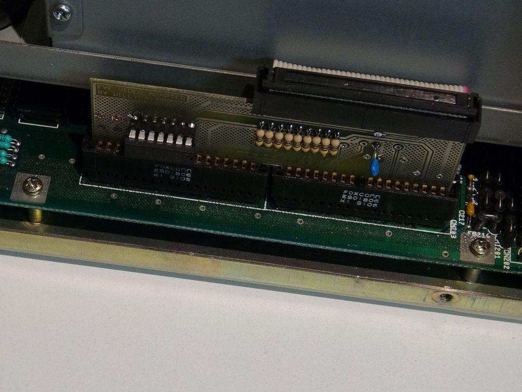 Connecteur FYE fait maison dans mon Amiga 2000.