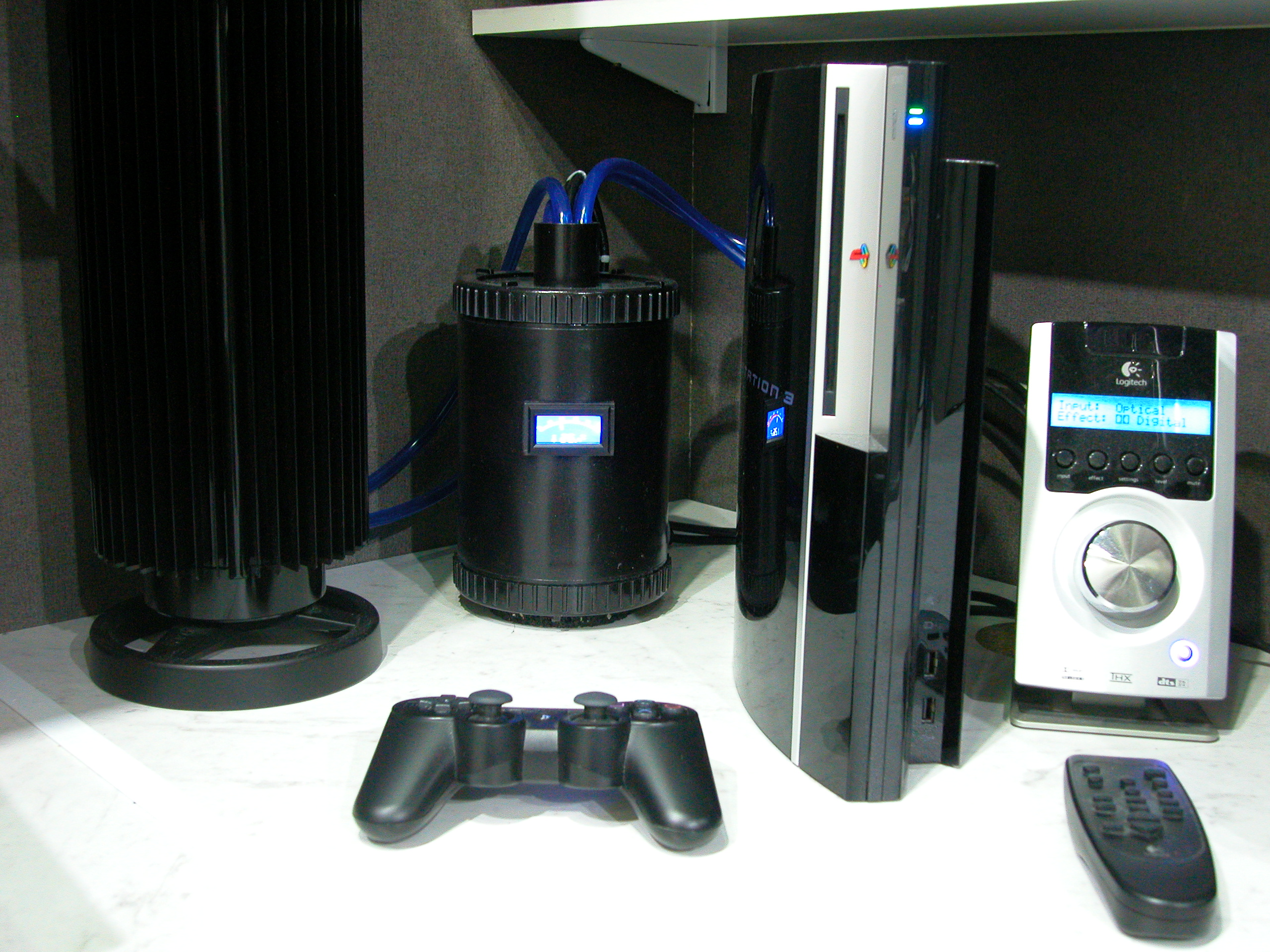 Watercooling d'une Playstation 3.