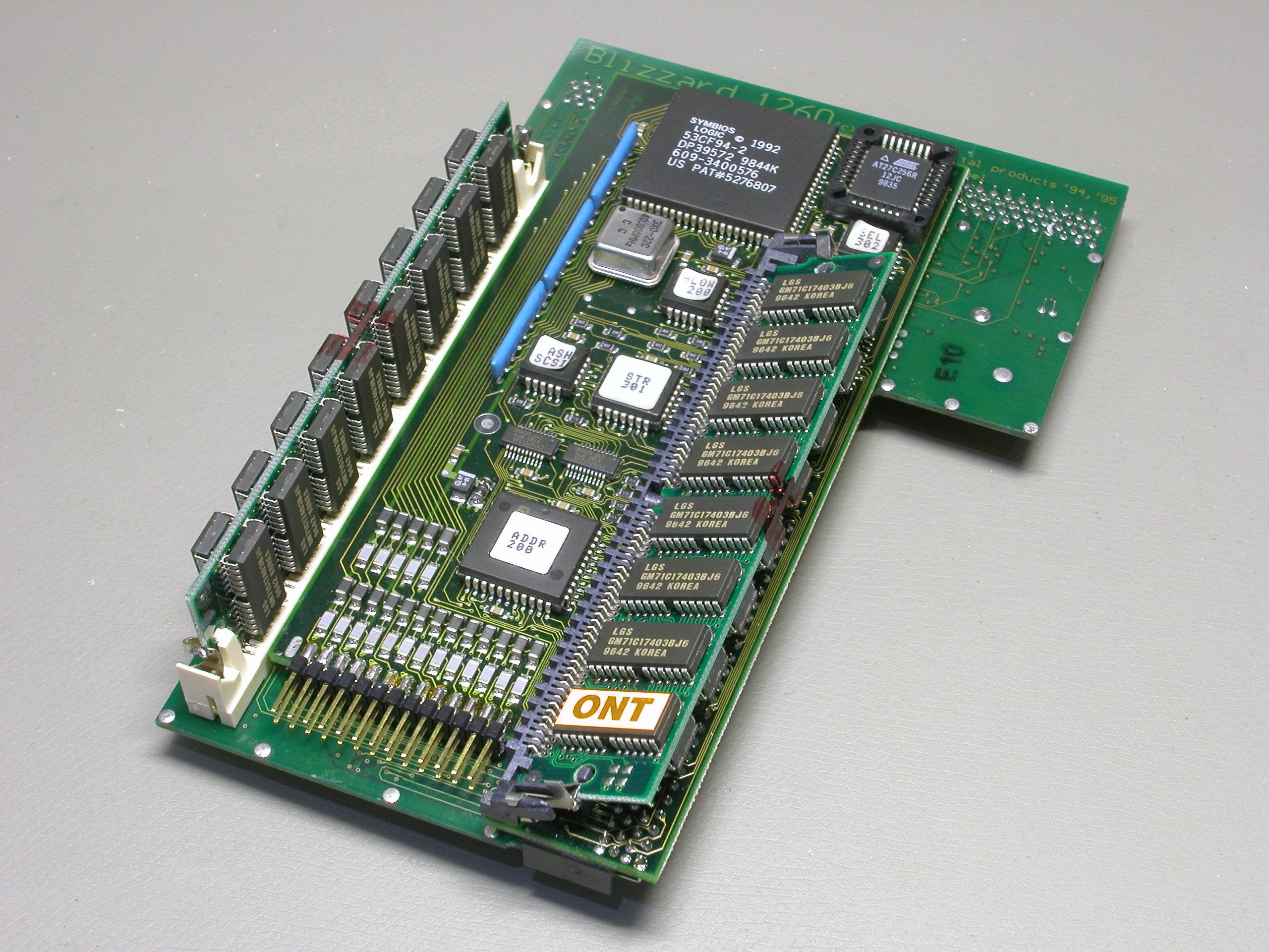 La Blizzard 1260 modifiée avec son kit SCSI.