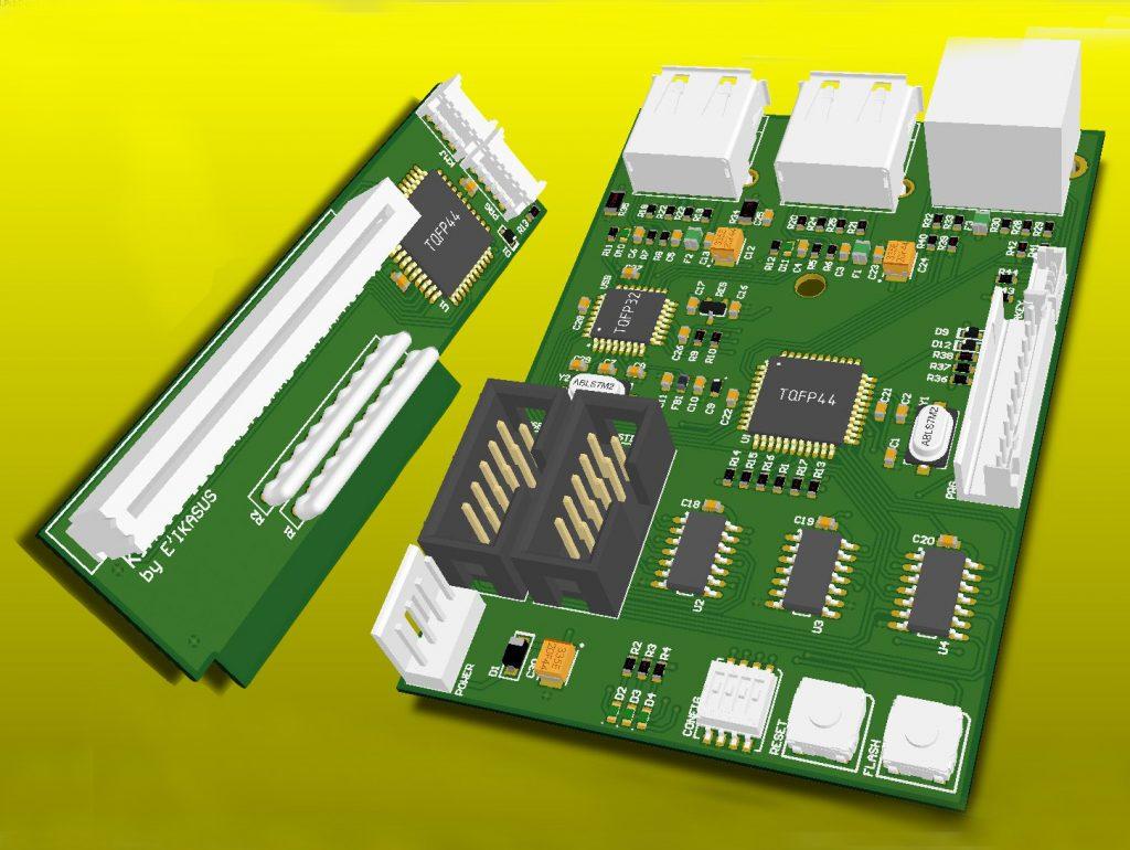 L'interface KIMOJO pour l'amiga 1200.