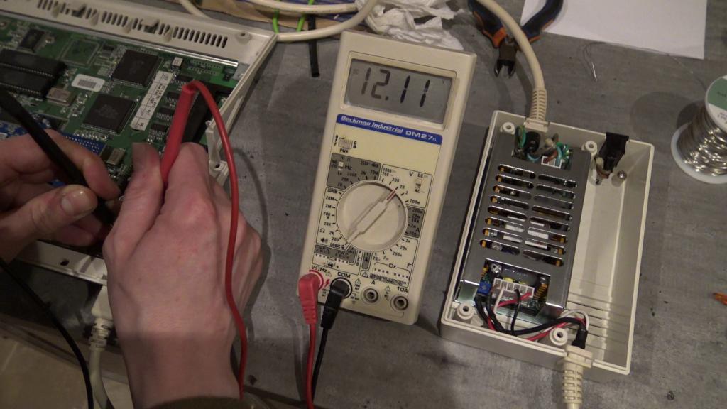 Tension de 12 volts en entrée de l'Amiga 1200